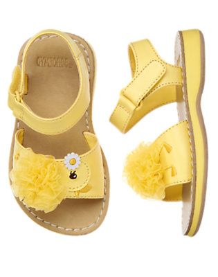 Toddler Girls Daffodil Yellow Duckling Rosette Sandal by Gymboree