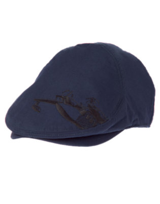 Boys Midnight Blue Airplane Cap by Gymboree
