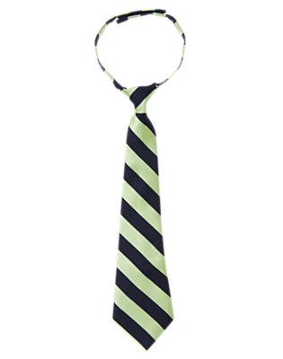Boys Mint Green Stripe Stripe Tie by Gymboree