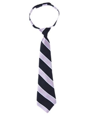 Boys Light Purple Stripe Stripe Tie by Gymboree