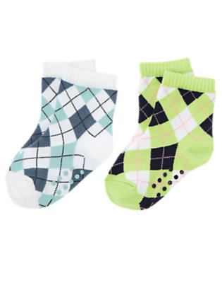 Toddler Boys White Argyle Sock Two-Pack by Gymboree