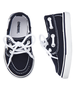 Midnight Blue Canvas Boat Shoe by Gymboree