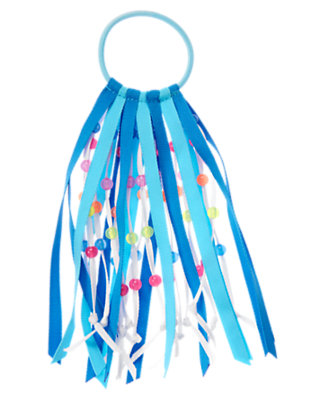 Girls Lagoon Blue Bead Streamer Pony Holder by Gymboree