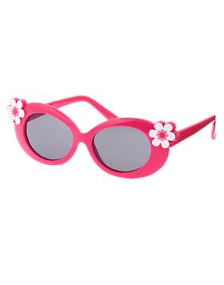 Girls Zinnia Pink Flower Sunglasses by Gymboree