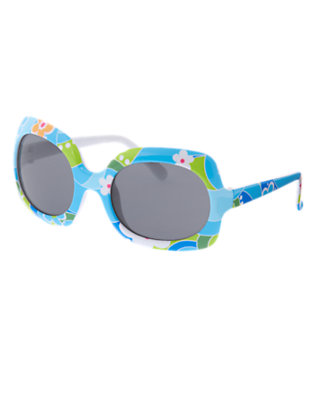 Girls Sky Blue Flower Swirl Flower Swirl Sunglasses by Gymboree