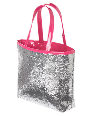Girls Silver Glitter Glitter Tote by Gymboree