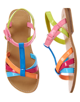 Girls Rainbow Rainbow Strap Sandal by Gymboree