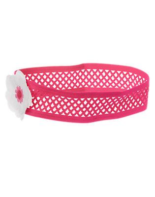 Toddler Girls Zinnia Pink Flower Corsage Headband by Gymboree