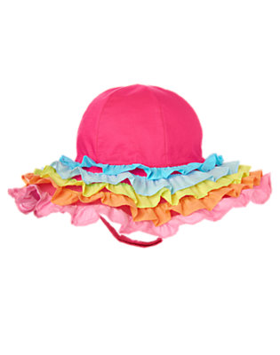 Toddler Girls Zinnia Pink Ruffle Sunhat by Gymboree