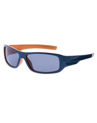 Boys Surf Blue Rectangular Sunglasses by Gymboree