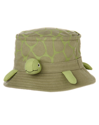 Toddler Boys Dusty Olive Green Turtle Bucket Hat by Gymboree