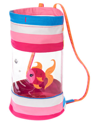 Bright Fuchsia Stripe Gem Fish Backpack by Gymboree