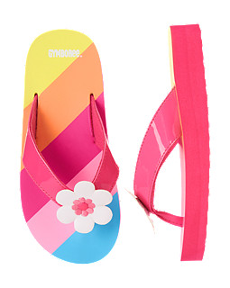 Flower Stripe Flip Flop