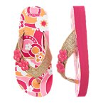 Graphic Flower Glitter Flip Flop