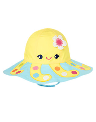 Toddler Girls Blue Wave Octopus Sunhat by Gymboree