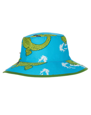 Boys Turquoise Alligator Bucket Hat by Gymboree