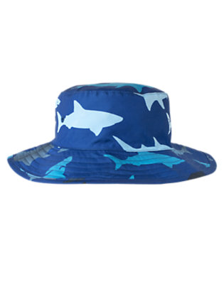 Boys Deep Sea Blue Shark Swim Hat by Gymboree