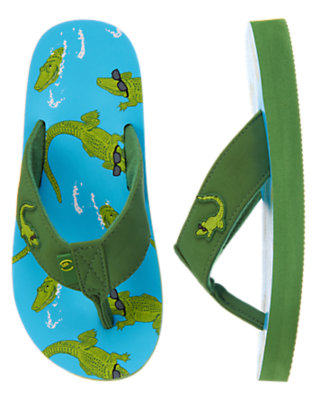 Alligator Green Alligator Flip Flop by Gymboree