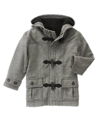 Soft Heather Grey Woolen Toggle Coat by Gymboree