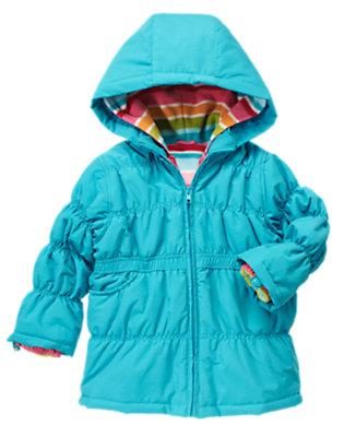 Girls Celestial Blue 4-In-1 Hooded Jacket by Gymboree