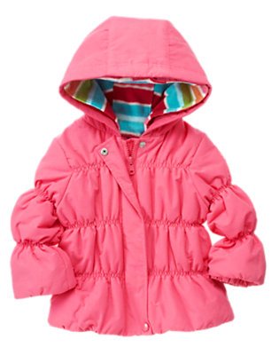 Toddler Girls Winter Pink 4-In-1 Hooded Jacket by Gymboree