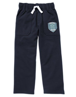 Boys Midnight Blue Deep Sea Diver Terry Pant by Gymboree