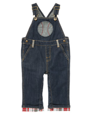 Denim Baseball Denim Overall by Gymboree