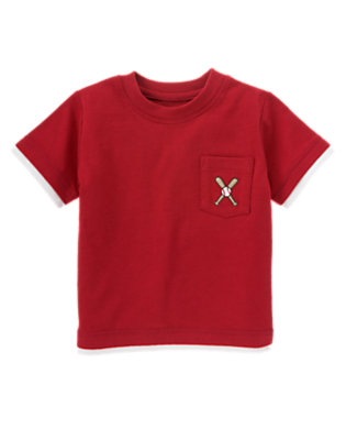 Baseball Red Baseball Pocket Tee by Gymboree