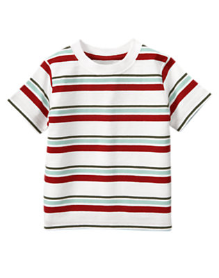White Stripe Stripe Tee by Gymboree