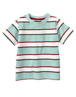 Baseball Blue Stripe Stripe Tee by Gymboree