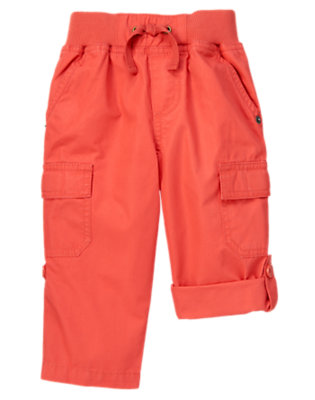 Submarine Orange Roll Cuff Cargo Pant by Gymboree