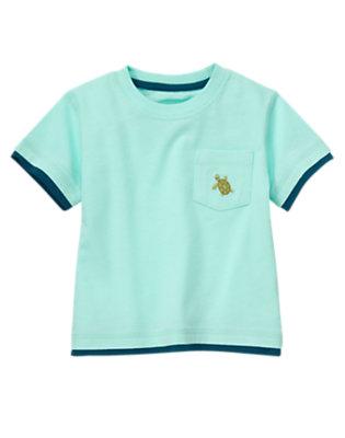 Toddler Boys Tidal Blue Sea Turtle Pocket Tee by Gymboree
