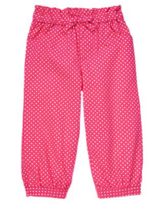 Tulip Pink Dot Bow Dot Pant by Gymboree