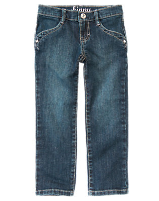 Girls Denim Gem Skinny Jean by Gymboree