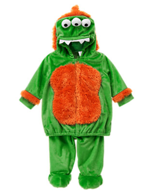 Bright Green Mini Monster Costume by Gymboree