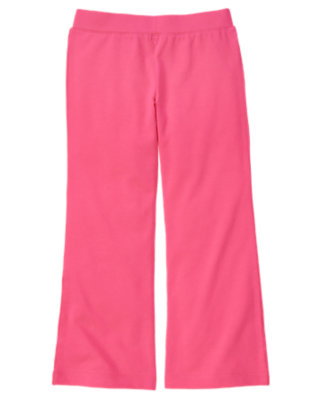 Girls Tulip Pink Flare Pant by Gymboree