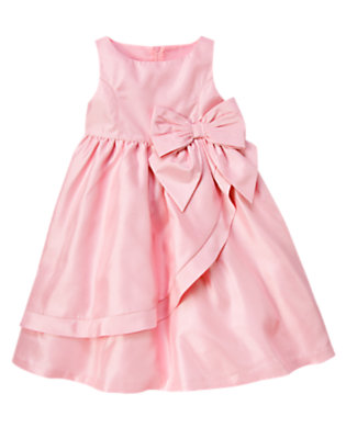 Girls Petal Pink Bow Dress by Gymboree