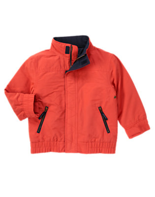 Submarine Orange Sailing Jacket by Gymboree