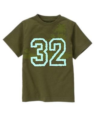 Boys Iguana Green Jungle 32 Tee by Gymboree