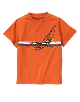Ochre Orange Costa Rica Windsurfer Tee by Gymboree
