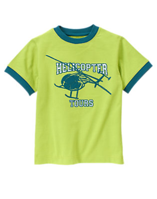 Palm Green Helicopter Tours Tee by Gymboree