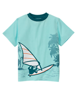 Wave Blue Windsurfing Tee by Gymboree