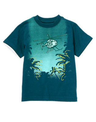 Helicopter Blue Jungle Helicopter Tee by Gymboree