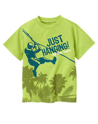 Boys Palm Green Zip Line Tours Tee by Gymboree