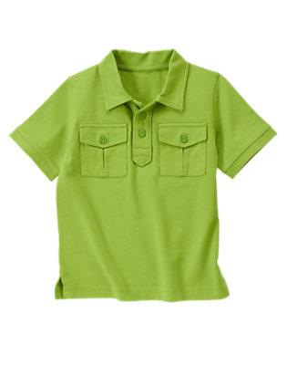 Palm Green Pocket Polo Shirt by Gymboree