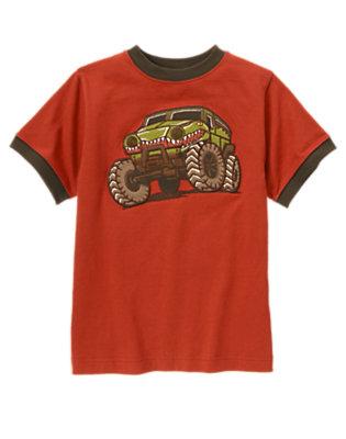 Boys Desert Red Crocodile Jeep Tee by Gymboree