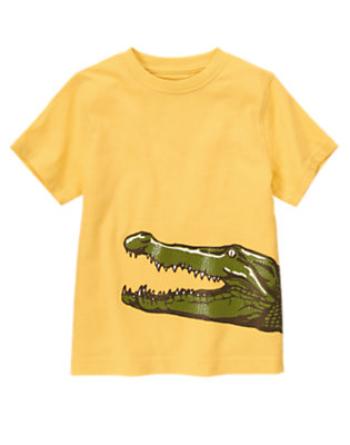 Boys Golden Yellow Gator Tee by Gymboree