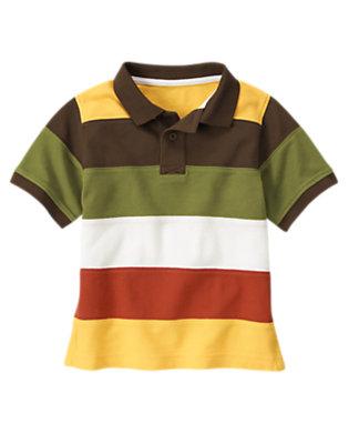 Boys Gator Green Colorblock Pique Polo Shirt by Gymboree