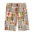 Stripe Plaid Patchwork Short