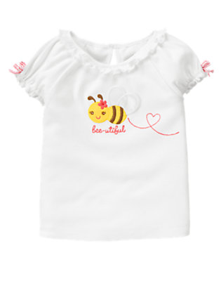 White Bee-utiful Bow Tee by Gymboree